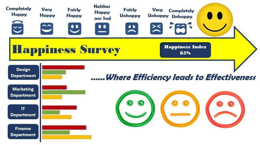 Happiness Survey – Where efficiency leads to effectiveness